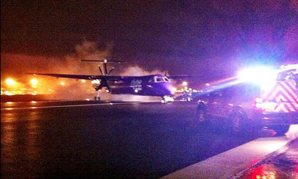 Flybe DHC-8-400 engine fire (Ivan)(LR)