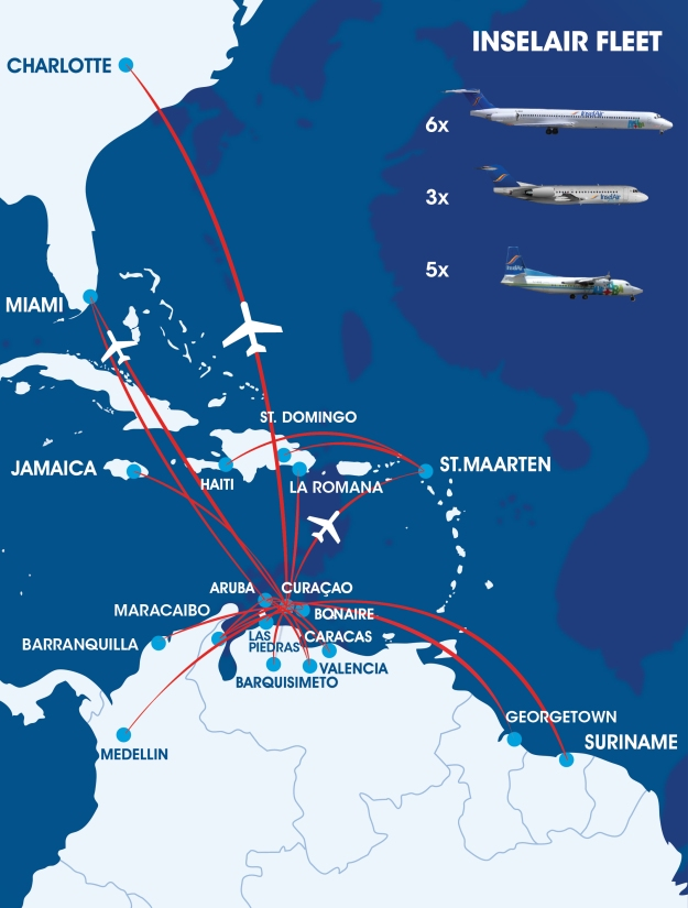 Insel Air 12.2014 Route Map