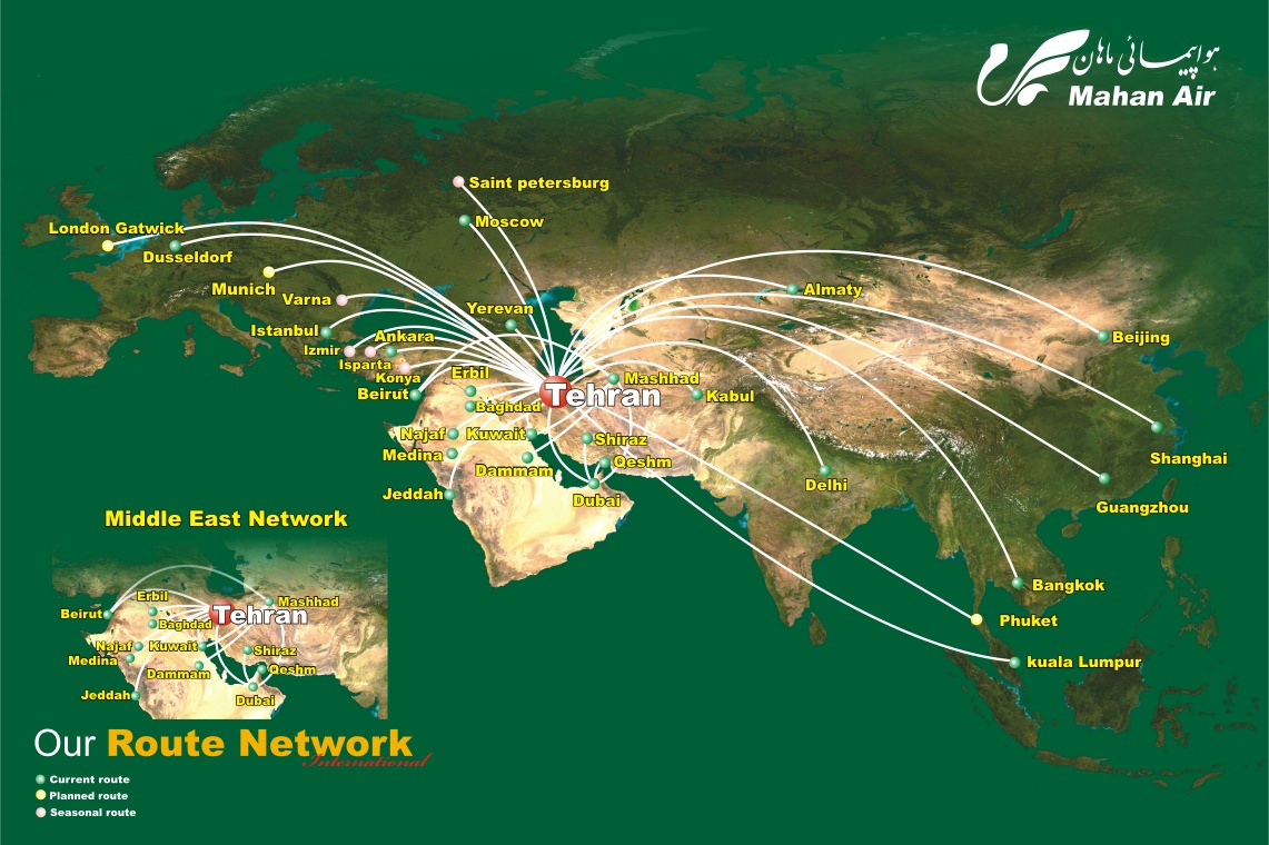 Mahan Air today launches a new route to London Gatwick | World ...