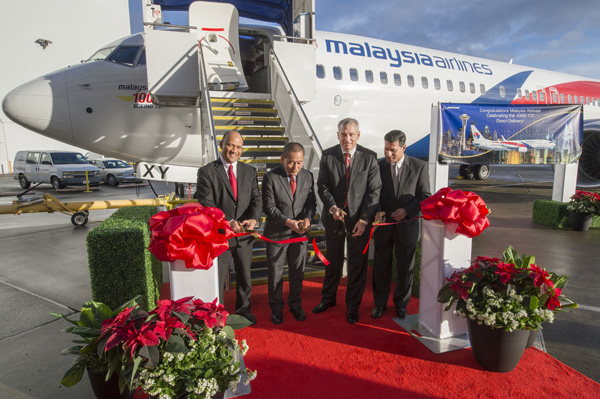 Malaysia Airlines 100th 737 Delivery Ribbon Cutting