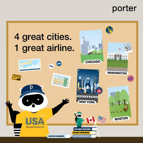 Porter's USA cities