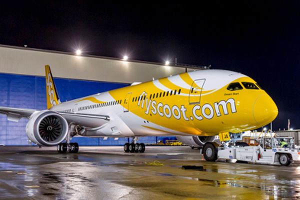 Scoot 787-9 9V-OJA (12)(Grd) PAE (Boeing)(LR)