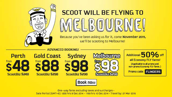 Scoot Melbourne poster