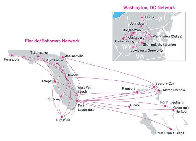 Silver Airways 12.2014 Route Map