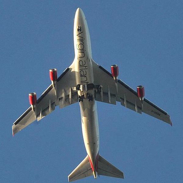 Virgin Atlantic 747-400 G-VROM over Brighton