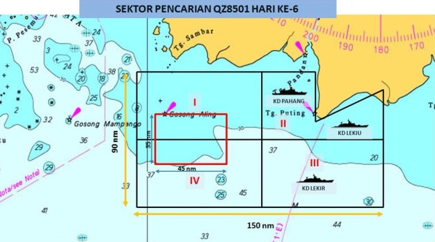 AirASia QZ 8501 Map
