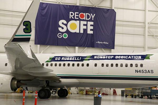 Alaska 737-900ER WL N453AS (15-Go Russell! - Nonstop Dedication)(Titles)(Alaska)(LR)