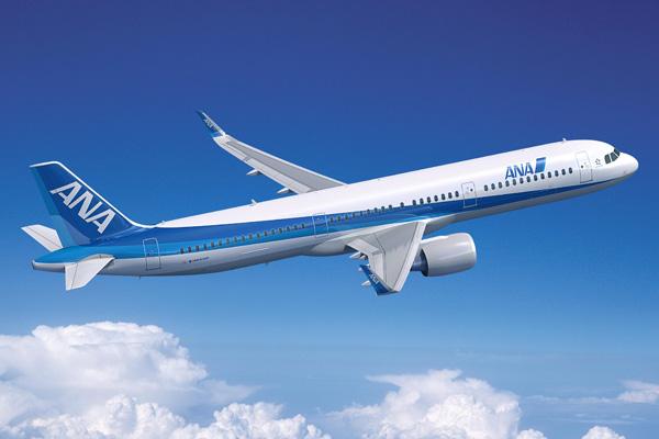ANA A321neo (82)(Flt)(Airbus)(LRW)