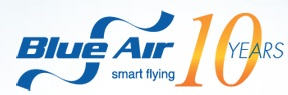 Blue Air 10 years logo
