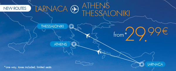 Blue Air Larnaca new routes