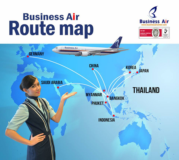 Business Air 2014 Route Map