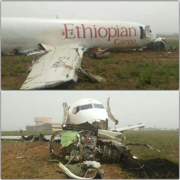 Etiopian Cargo 737-400F ET-AOV crash Accra (Heni Mebay)(LR)