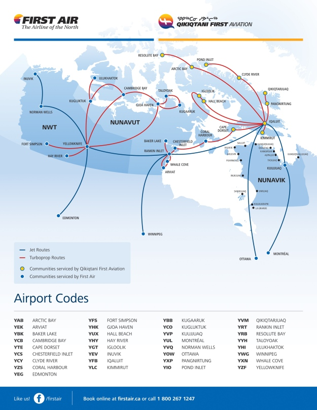 First Air 1.2015 Route Map
