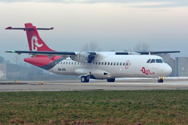 Quick Duck ATR 72-600 OM-AQD (14)(Grd) Brno (ZZ)(LRW)