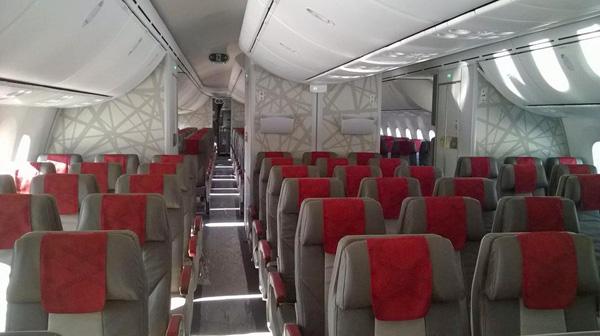 Royal Air Maroc 787-8 CN-RGB cabin (RAM)(LR)