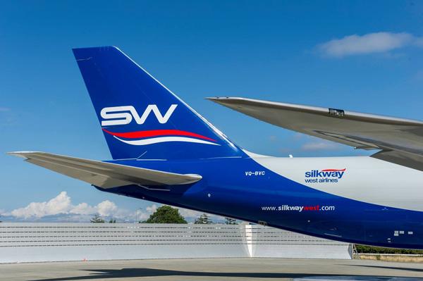 Silkway Azerbaijan Cargo 747-800F VQ-BVC (10)(Tail) PAE (Silk Way)(LRW)