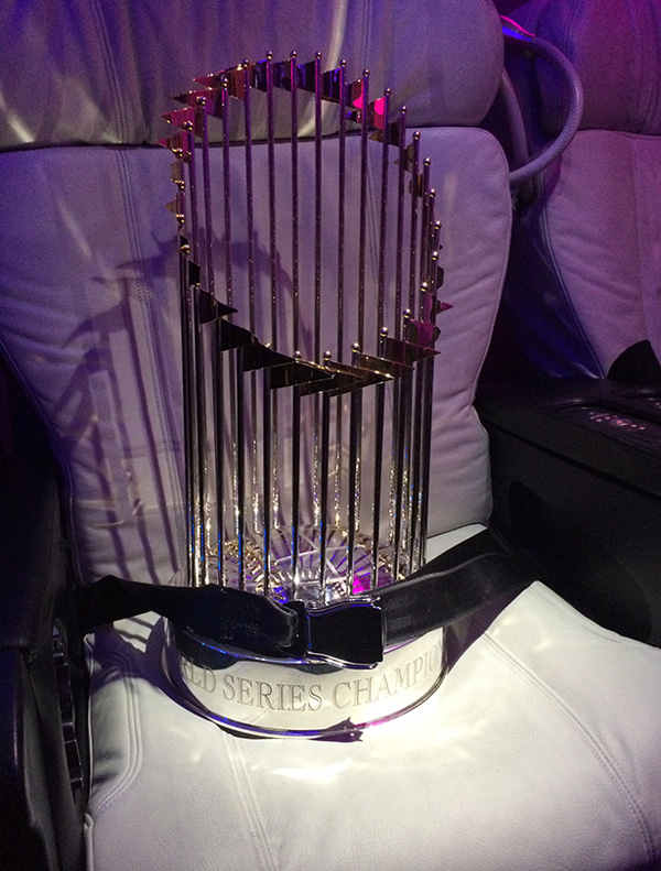 Virgin American MLB Trophy in a seat (Virgin America)(LR)