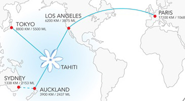 Air Tahiti Nui Route Map