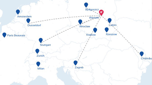 EuroLOT 2.2015 WAW Route Map
