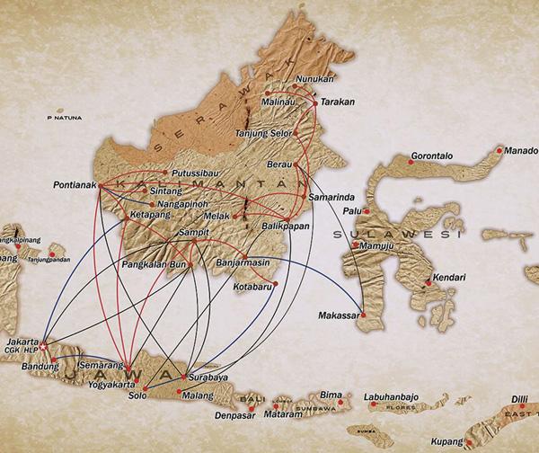 Kalstar Aviation 1.2015 Route Map