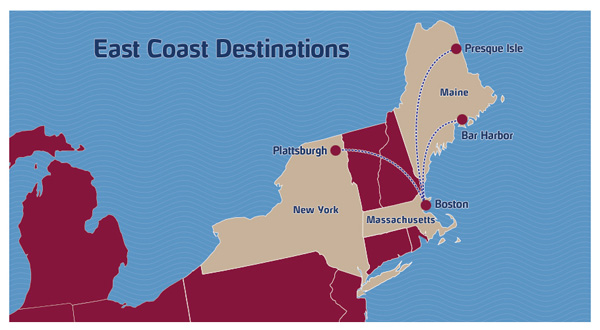 PenAir 2.2015 East Coast Route Map