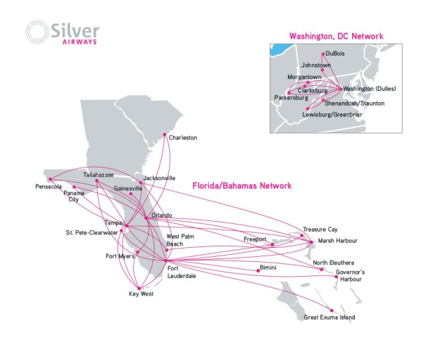 Silver Airways 2.2015 Route Map