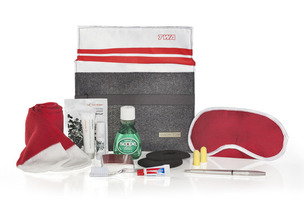 American Airlines Heritage TWA Amenity Kit