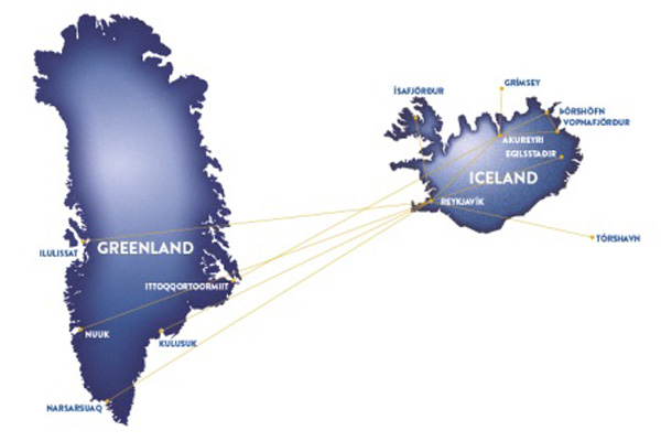 Air Iceland 3.2015 Route Map