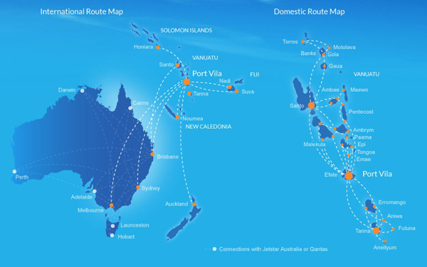 All air vanuatu flights cancelled due to excessive damage in the air vanuatu 32015 route map gumiabroncs Images