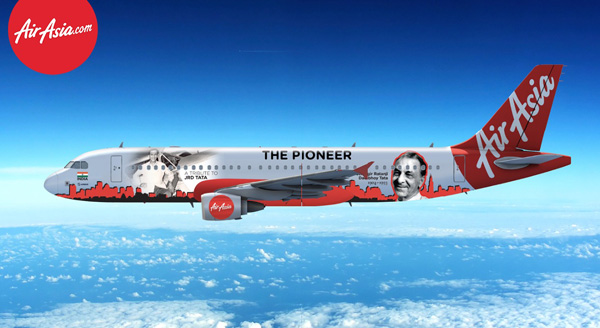 AirAsia (India) A320-200 VT-JRT (15-The Pioneer)(Drawing)(AirAsia)(LRW)