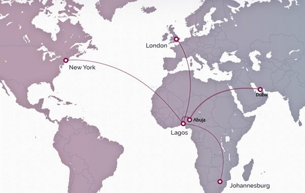 Arik Air 3.2015 International Route Map