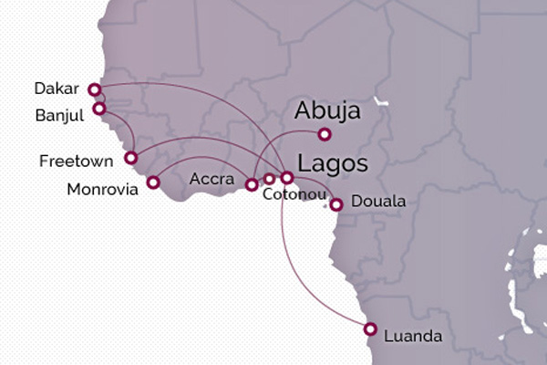Arik Air 3.2015 West Africa Route Map