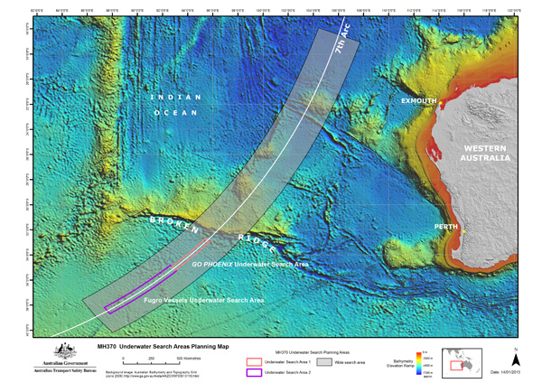 ATSB MH 370 Search Area Map (3.2015)(LRW)