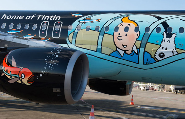 Brussels Airlines A320-200 OO-SNB (15-Tintin)(CloseUp1) TLS (Airbus)(LRW)