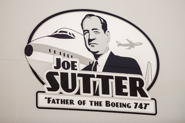 Cargolux 747-8F Delivery Honors Joe Sutter
