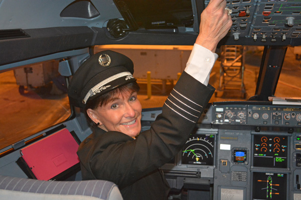 Connie Tobias in the cockpit (JS)(LRW)