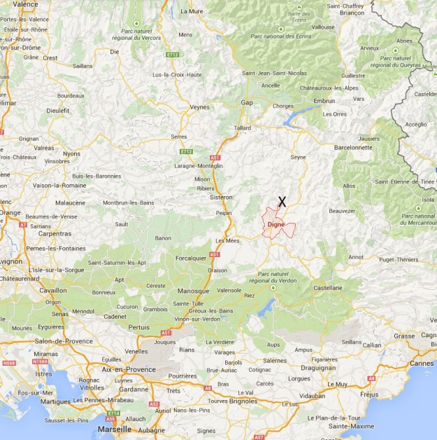 Germanwings 4U 9525 map copy