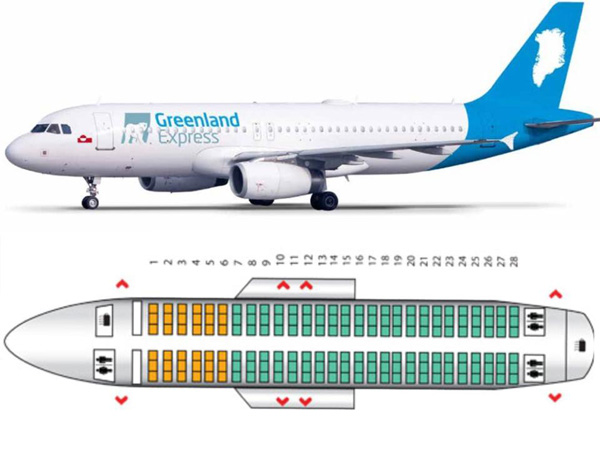 Greenland Express A320 Seating Chart