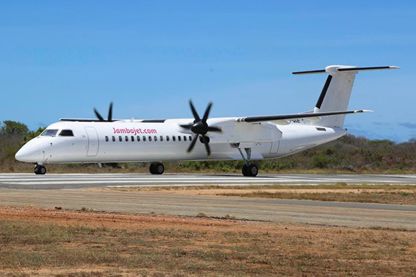 Jambojet.com (DAC Aviation) DHC-8-400 (Grd)(Kenya Airport Authority)(LR)