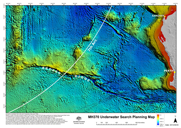 MH 370 7th Arc Map (3.2015)(ATSB)(LRW)