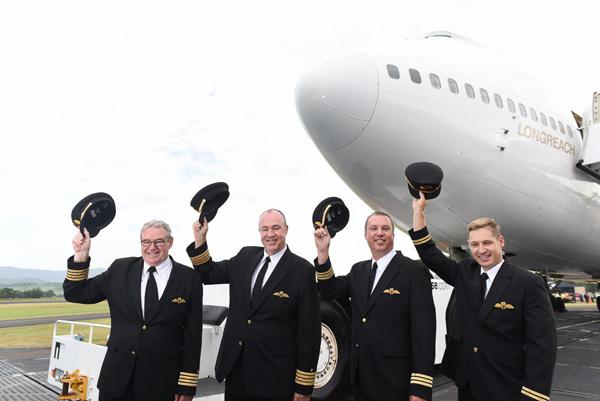 QANTAS 747-400 VH-OJA final crew (QANTAS)(LRW)