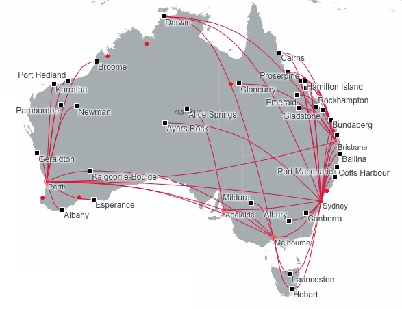 Virgin Australia 3.2015 Domestic Route Map