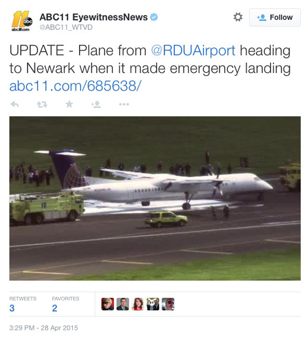 United Express Q400 flight 4882 is forced to make an emergency landing at Philadelphia with an ...