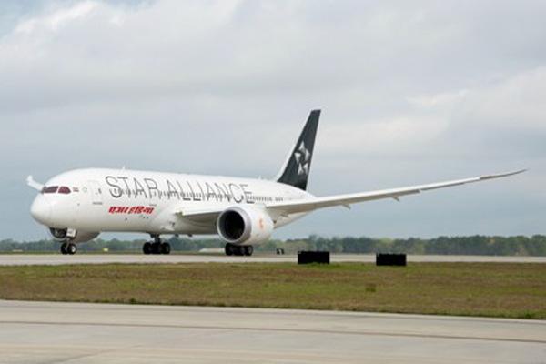 Air India 787-8 in Charleston