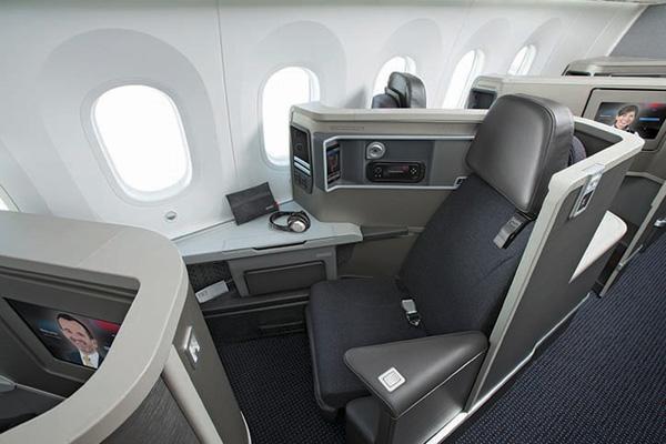 American 787 Business Class seat (AA)(LR)