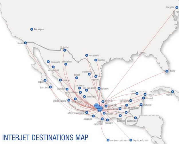 Interjet MEX 4.2015 Route Map