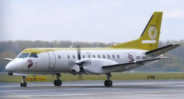 Leon Air (SkyTaxi) SAAB 340A SP-MRC (Grd)(Leon Air)(LR)