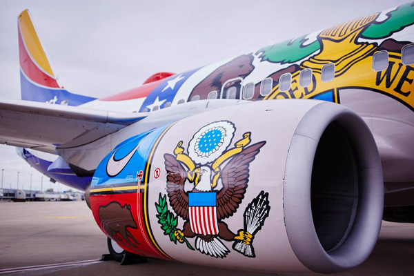 Southwest 737-700 WL N280WN (15-Missouri One)(Engine) MCI (Southwest)(LR)