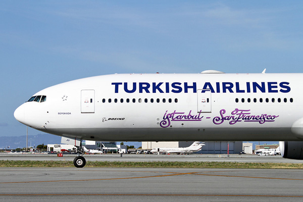 Turkish 777-300 TC-JJU (15-Nose-Istanbul-San Francisco) SFO (MDB)(LRW)