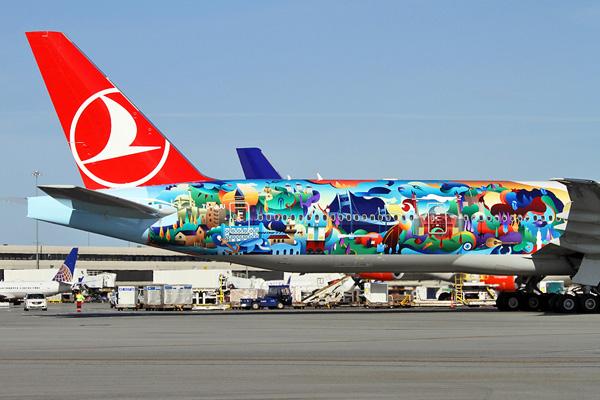 Turkish 777-300 TC-JJU (15-Tail-Istanbul) SFO (MDB)(LRW)